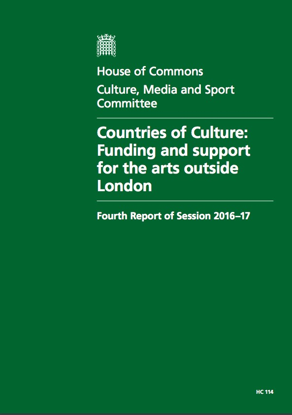 Countries of Culture: Funding and support for the arts outside London, DCMS