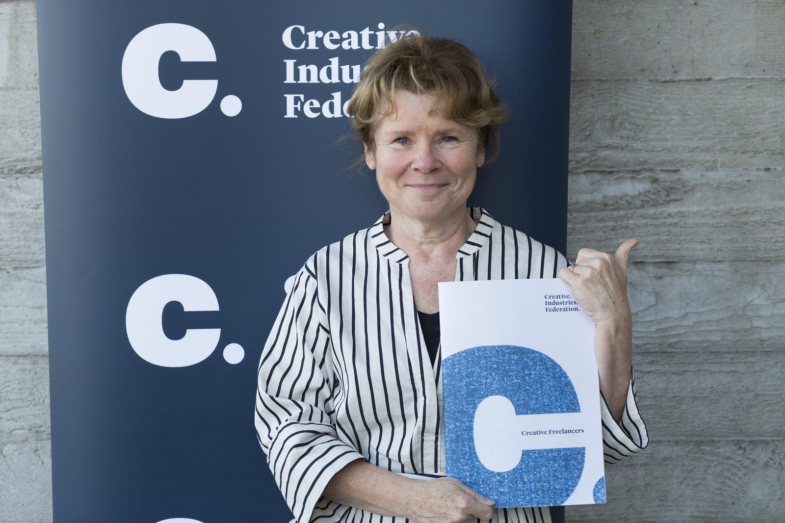 Imelda Staunton at Creative Freelancers report launch