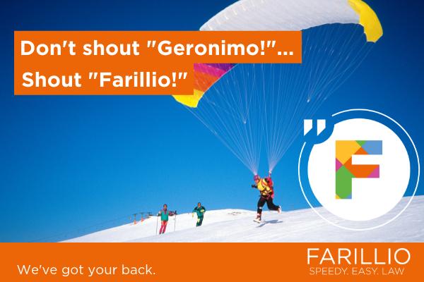 "Don't shout""Geronimo!"" Shout ""Farillio!"""
