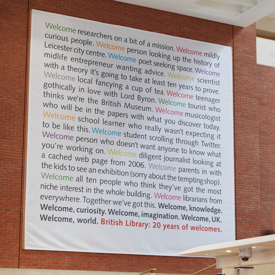 Tom Sharp British Library Welcome